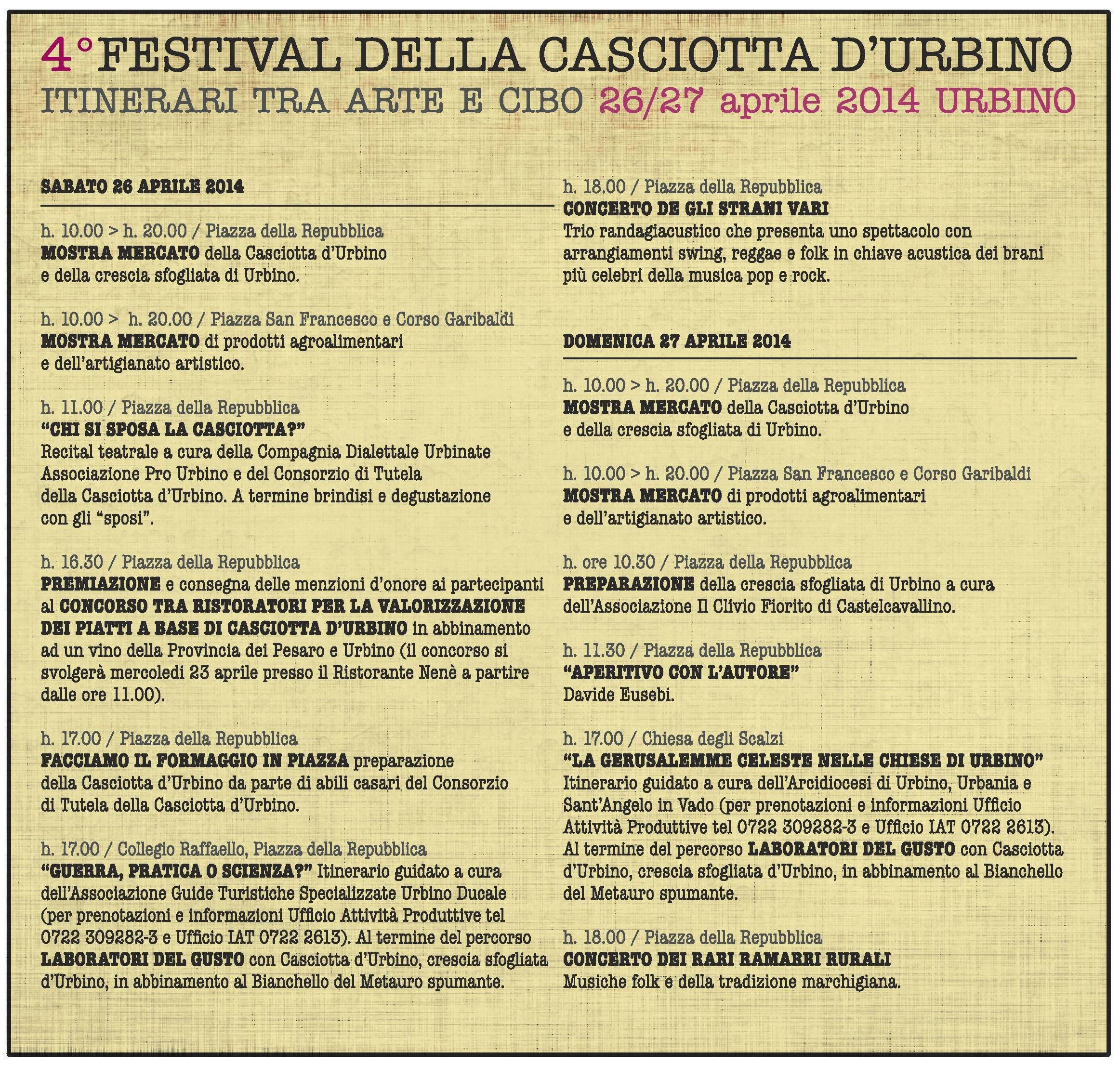 programma festival casciotta
